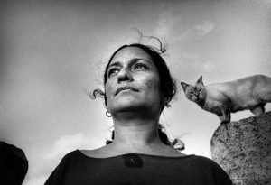 The poet Reina Maria Rodriguez. La Habane 1996 © Francesco Gattoni